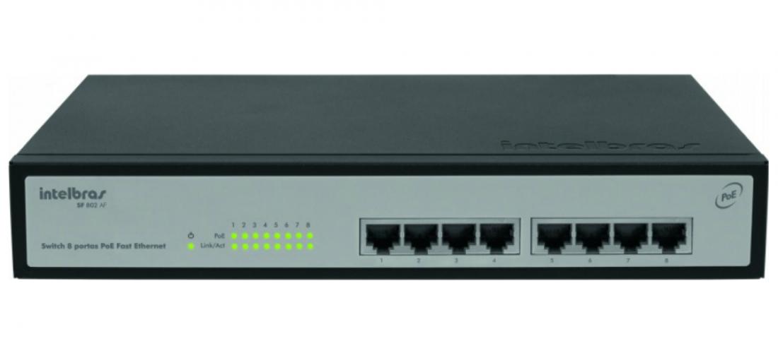 SF 802 AF Switch 8 portas PoE Fast Ethernet